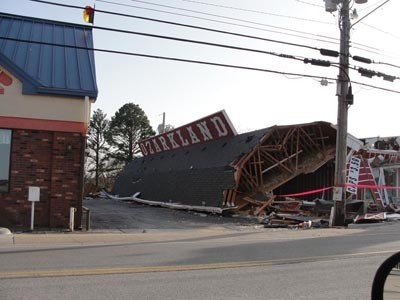 Branson Leap Day Tornado damage - same day #examinercom   NOW REBUILD & REOPENED