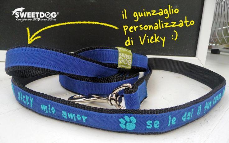 Personalized dog leash - Guinzaglio personalizzato per cane. | https://www.facebook.com/SweetDogStore