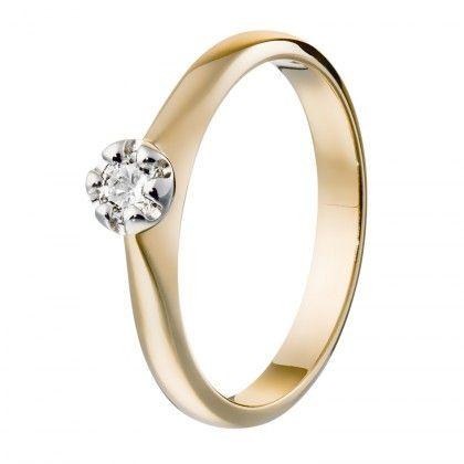 Kalevala Koru / Kalevala Jewelry / Hohde-sormus 0,18ct / 18K keltakulta tai valkokulta / #sormuskertootarinaa