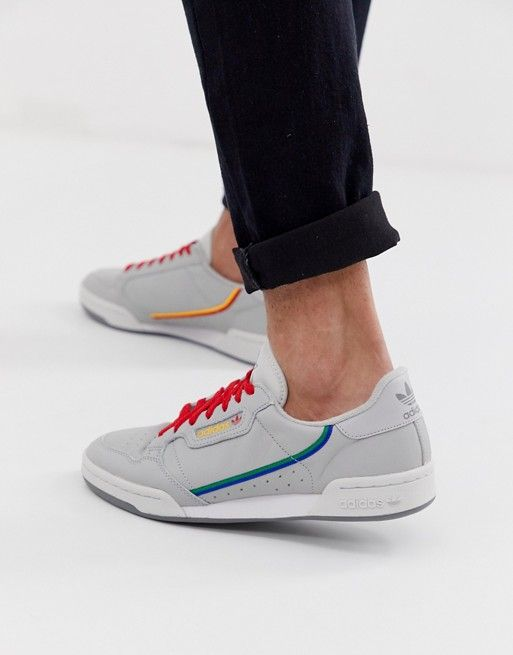 adidas Originals Continental 80 sneakers in gray
