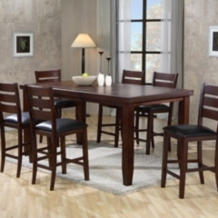 Shop For The Crown Mark Bardstown Rectangular Counter Height Table Set At Miskelly Furniture