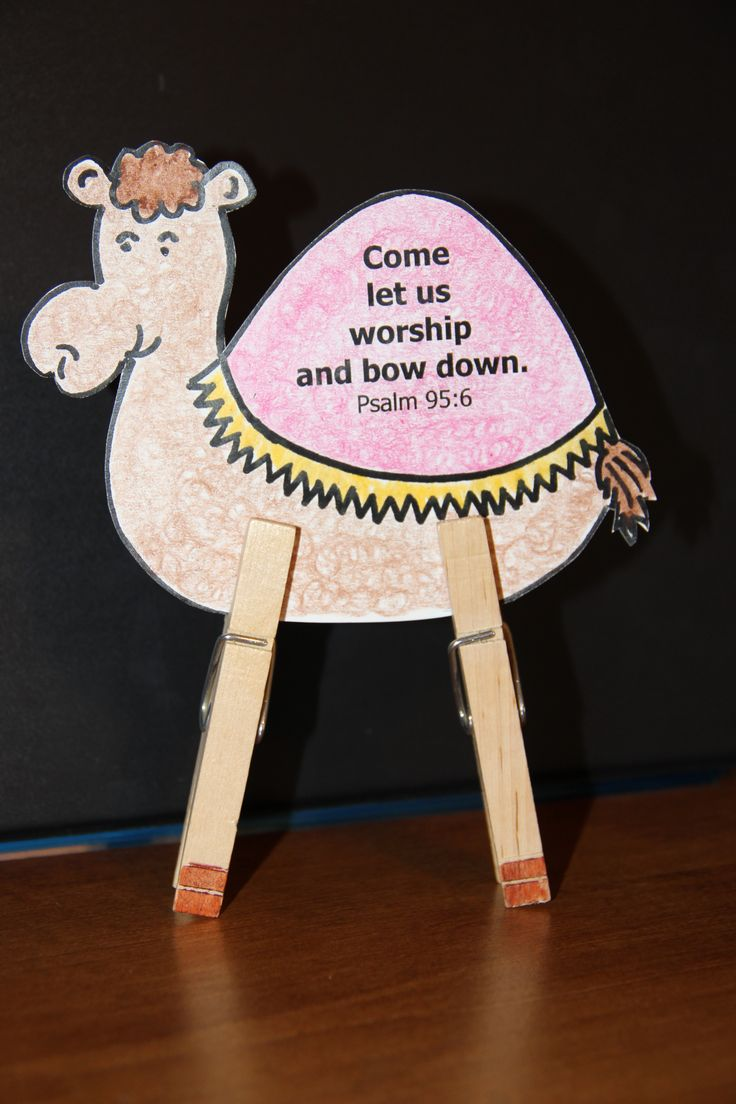 camel craft we made with the 3 Wise Men lesson