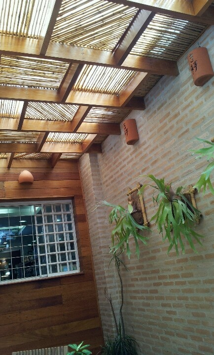 Forro de madeira e bambus