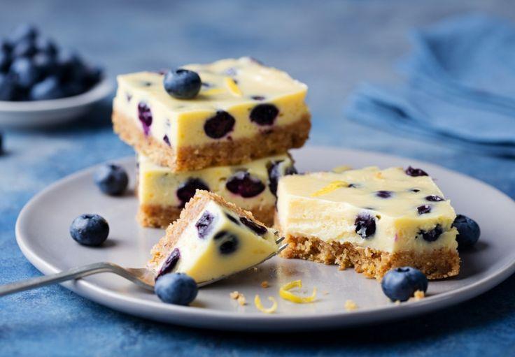 Borůvkový tofu cheesecake (z kokosového mléka)