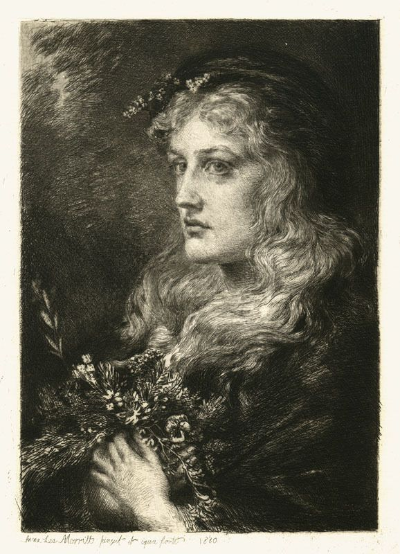 Ophelia (portrait of Ellen Terry in the role) by Anna Lea Merritt, 1880