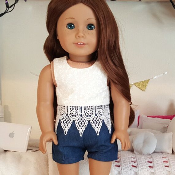 american girl doll lace crop top by SewCuteForever on Etsy