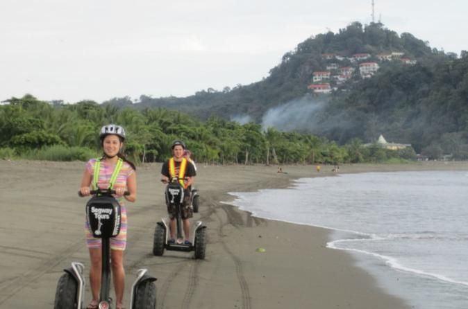 Segway Tour in Quepos While you're in Quepos-Manuel Antonio, Costa Rica you don't want to miss out on this eco-friendly, 100% green segway tour.Enjoy gliding along on a new 2015 off road segway. We will take you to places not seen by 99% of the Costa Rica visitors. We will ride a water ferry with your segway to explore the beautiful Pacific Island just off the mainland. Segway offers the best adventure tour in Costa Rica.Both morning and afternoon segway tours start at the Mar...
