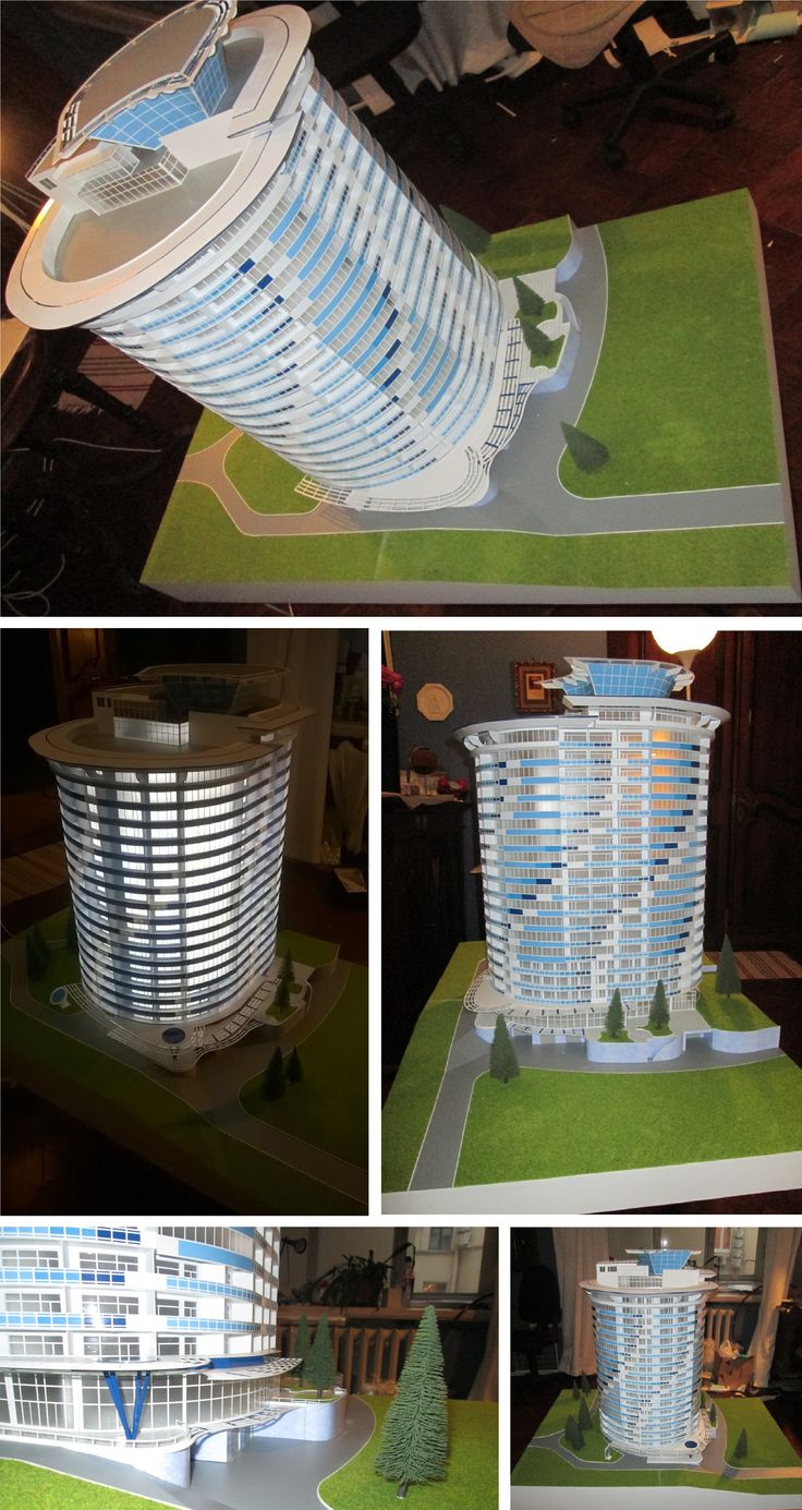 "Model of residential complex ""Zazerkalye"" in Yalta"