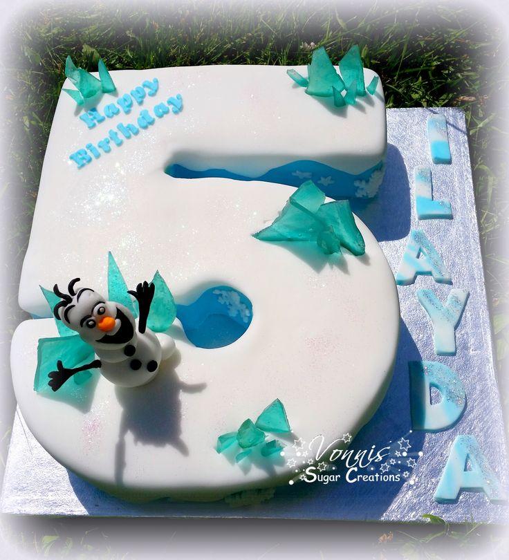Number cake Frozen  Nummer Eiskönigin Torte Kuchen