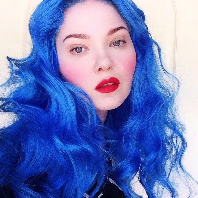 Our founder @doedeere in her signature Red Velvet lip, rocking future Lime Crime hair dye, coming soon!