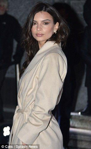Actress and model Emily Ratajkowski was present at the club's event in Milan...