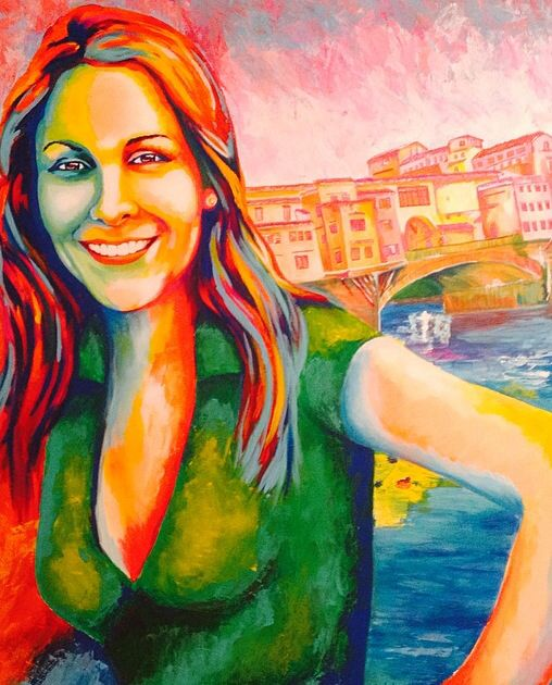Oh Kathy Days, commission portrait. Acrylic on canvas, 80x100 cm
