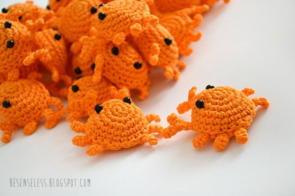 Crochet amigurumi crabs - Granchietti all'uncinetto - besenseless.blogspot.com
