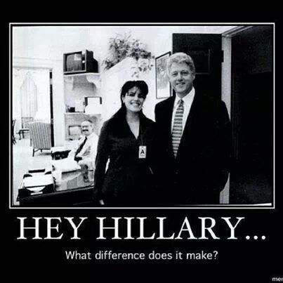 """Bill and Hillary lie about everything..it's what they do. Remember when Bill said, """"I did not have sexual relations with THAT woman!""""? DNA on the infamous Monica Lewinsky dress tore that lie apart. Corrupt and without any integrity..both of them. They deserve each other. Pathetic. Looking at the current body count, Ms. Lewinsky is lucky to be alive today."""