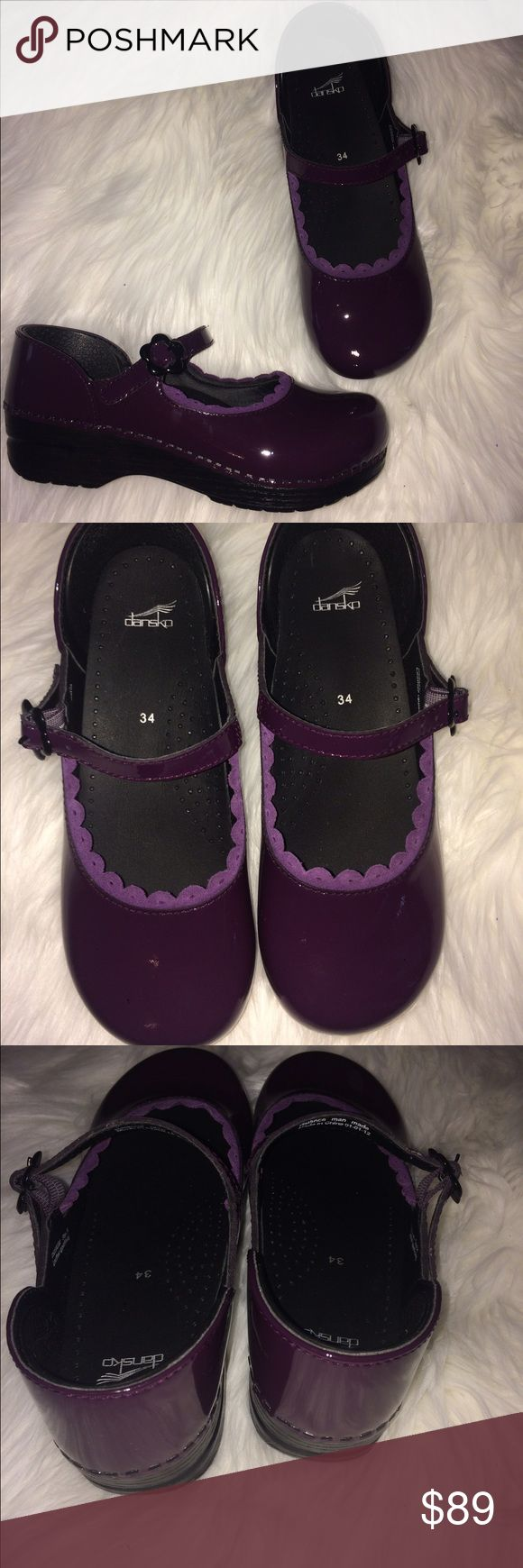 ‼️SALE‼️Brand new Dansko Clogs size 4 Gorgeous brand new pair of Dansko professional Clogs authentic in a beautiful Egg Plant Color. Side Mary Jane buckle. Beautiful pair ! Fast Shipping! Dansko Shoes Mules & Clogs