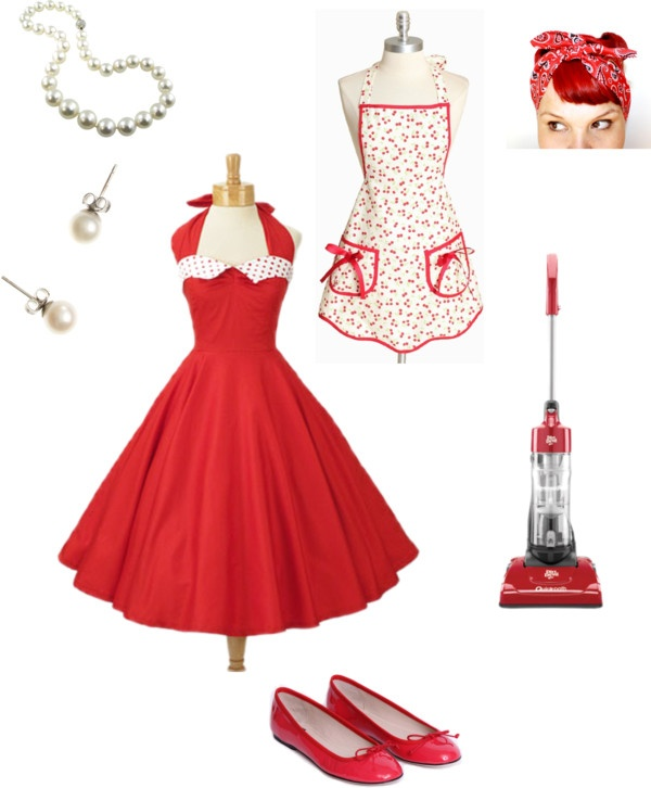 """""""50's Housewife"""" by bigmama-06757 on Polyvore"""