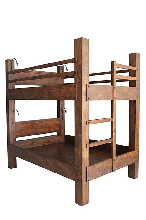 Tall Queen Over Queen Bunk Bed With Integrated Ladder. Shown With Optional  Headboards, Goose Part 74