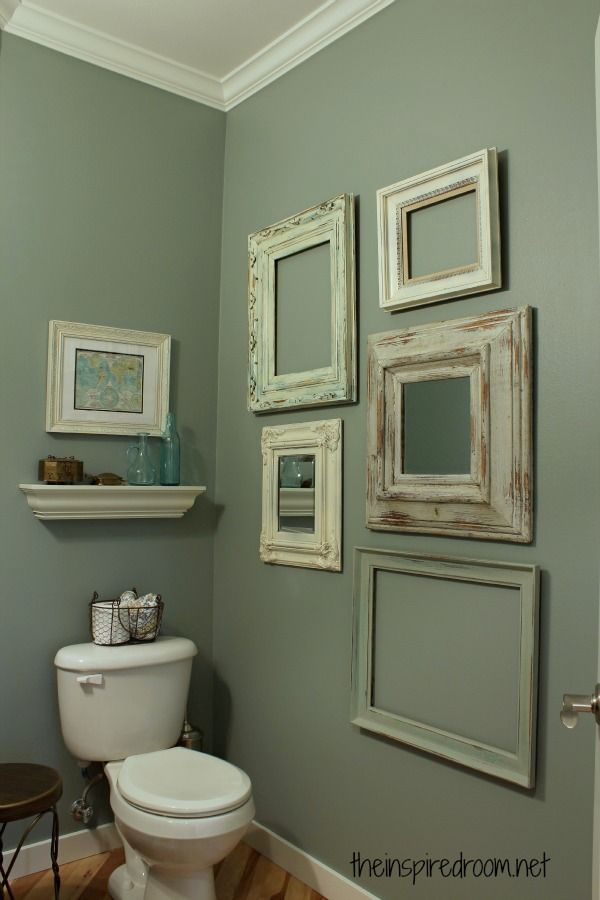 Powder Room Vintage Frame Gallery Wall