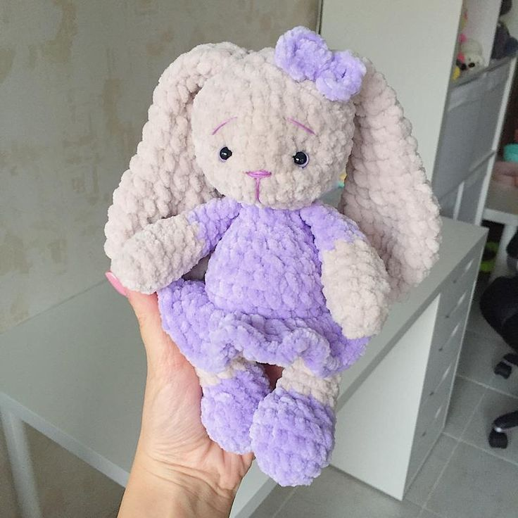 Gefüllte Häkeln Hase Spielzeug mit Schlappohren Baby Plüschtier | Etsy   – Amigurumi toys by KidisGlad, Stuffed animal, Crochet soft doll