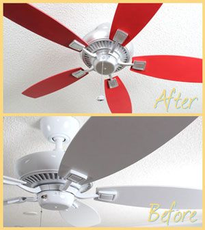 Spruce up your old ceiling fan with a coat of paint.