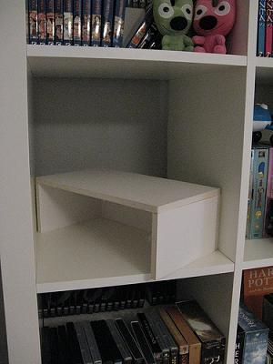 What a brilliant idea for extending or making more room on a shelf.  This has so many applications and it's foam board.  Can you say...I will be making some of those.