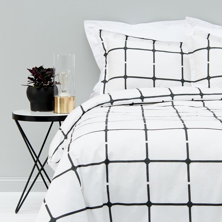 Our In 2 Linen Joe Quilt Cover Set is so on-trend with the Scandinavian style. This simple monochrome QB size was $109.95, now only $49.95!