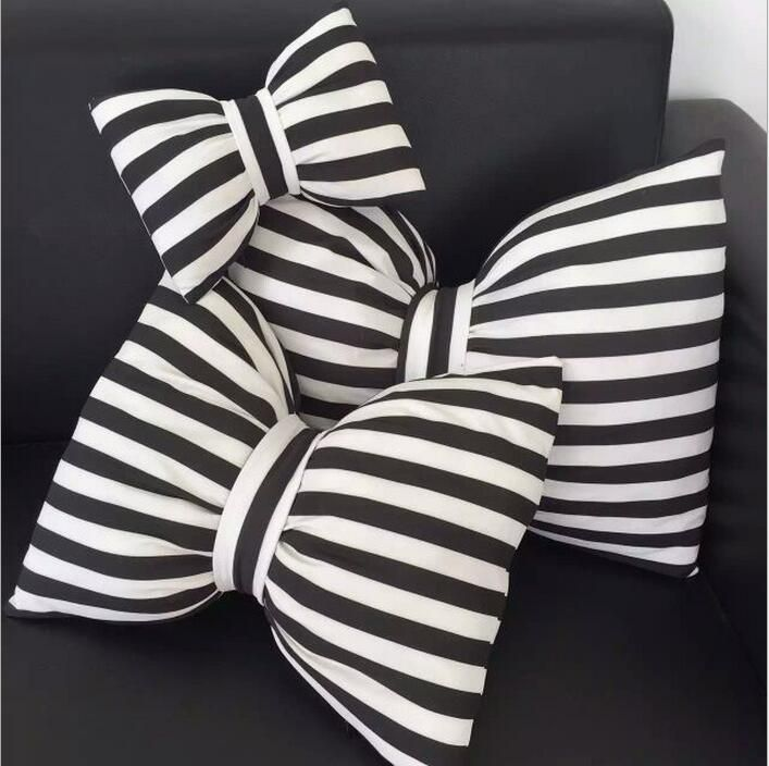 Hot toys 20cm/45cm kids bow pillows black and white striped Neck pillow decorative soft pillow for kids room cute ribbon cushion-in Stuffed & Plush Animals from Toys & Hobbies on Aliexpress.com | Alibaba Group