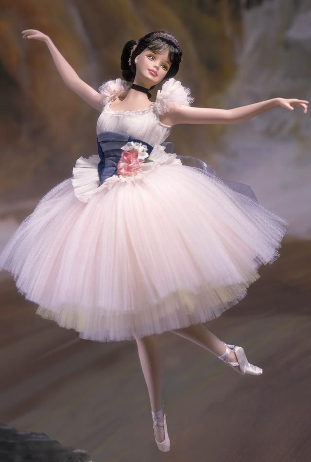 Lighter than Air Barbie doll - Inspired by the paintings of Edgar Degas, Barbie is a beautiful ballerina made of fine bisque porcelain. $150.00 Limited Edition