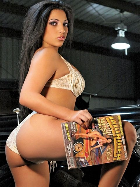 Beautiful, Sexy, Lowrider Magazine Girls Model Jazmin Rayne showing off that booty! #lowridermagazine