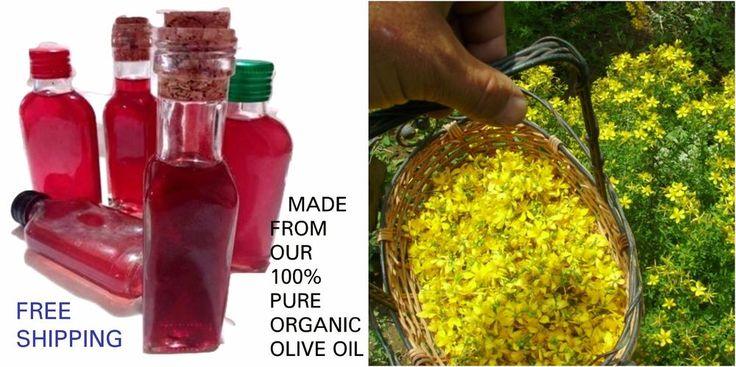 St. John's Wort Oil Extract, Balsam, Vitamin A, B, D, Organic Herbal Oil, 100ml #StJohnsWort
