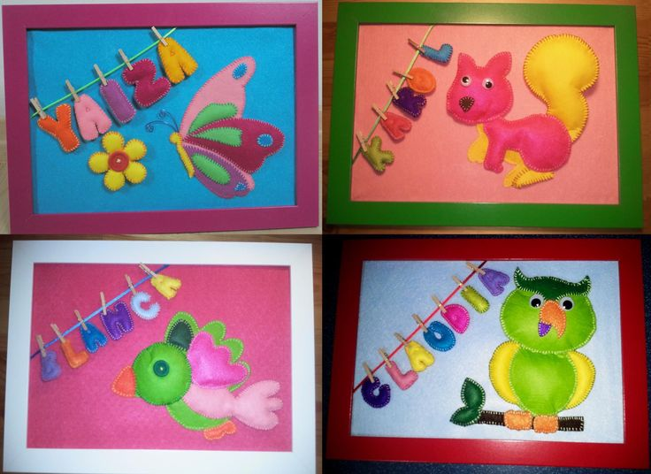 Cuadros infantiles personalizados, hechos a mano