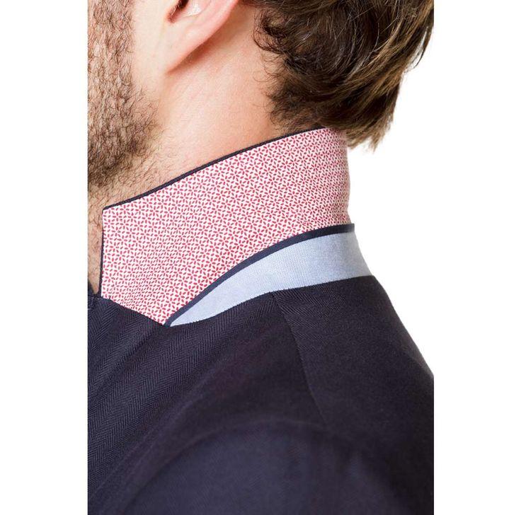 Navy Herringbone Cotton Blazer | El Ganso