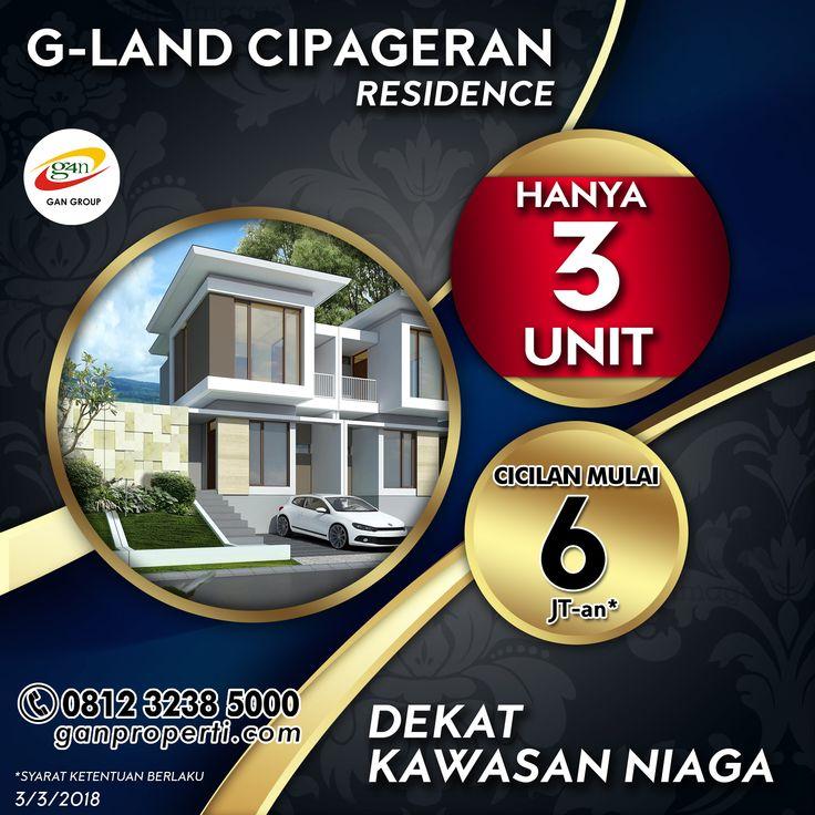 G-Land Cipageran Residence!  Lokasi Komplek Cipageran Asri, Jalan Cipageran. Cimahi Utara ------------------------------------------ Tersedia Tipe: 70! (2 Lantai)  Progres Bangunan mencapai 85%!  Cicilan Mulai 6 Jutaan! ------------------------------------------ Fasilitas: + Gazebo + CCTV ------------------------------------------ Info lebih lanjut hub 0812 3238 5000 (Telp/WA) Spek dan Harga cek di www.ganproperti.com  #house #rumahnyaman #properti #perumahan #property #realestatelife