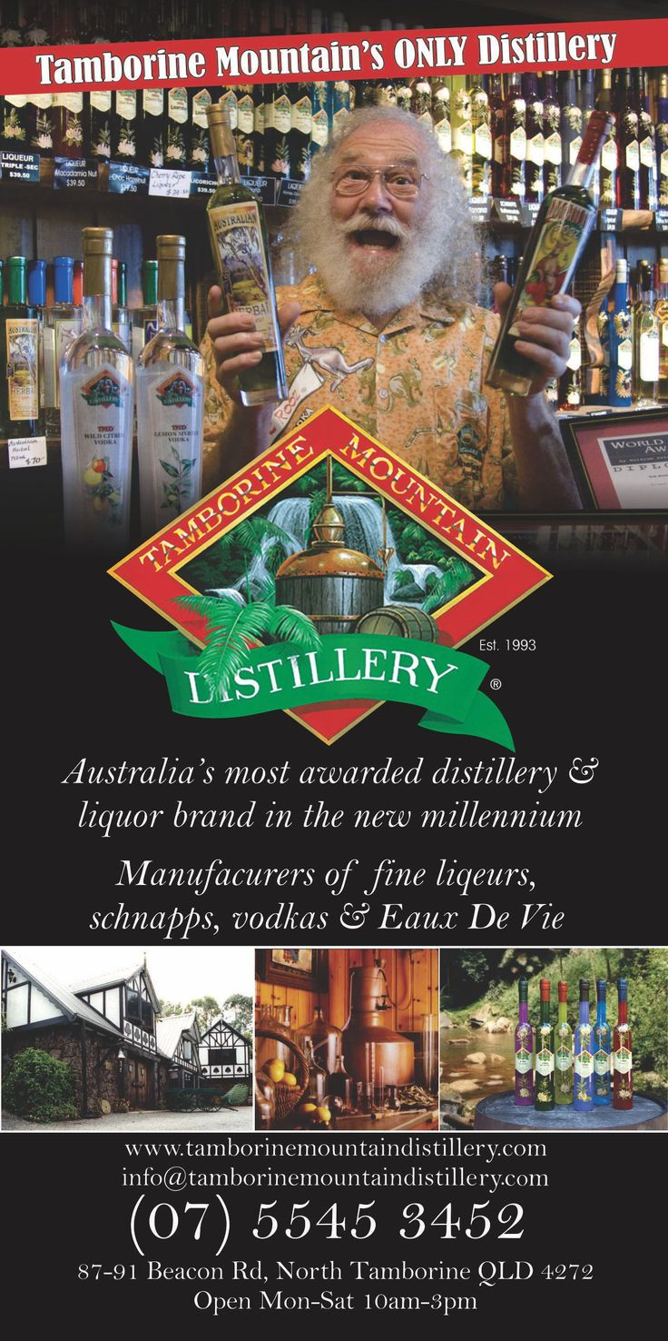 Hidden away in the Gold Coast Hinterland, is the Tamborine Mountain Distillery. This is Australia's smallest operating Pot Still Distillery, but of world renown, including in Europe, America, Canada, New Zealand and Asia. To visit the Distillery without having to worry about driving book the hop on hop off now http://ticketsandtours.com.au/travel/hop-on-hop-off-to-tamborine-mountain/