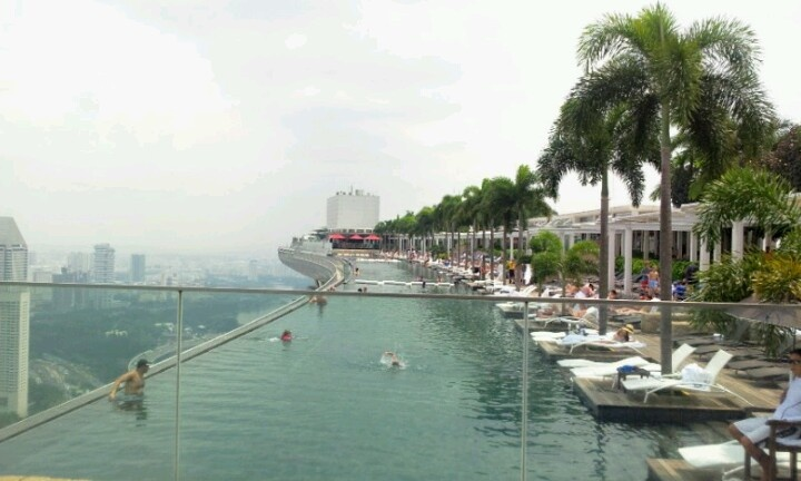 Marina bay sands pool, singapore..