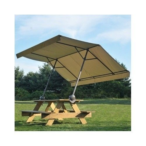 Picnic Canopy Shelter : Picnic table umbrella outdoor canopy sun shelter backyard