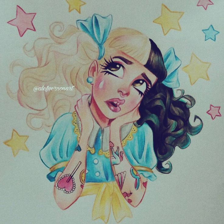 "14.1k Likes, 103 Comments - Alef Vernon (@alefvernonart) on Instagram: ""Melanie Martinez Pacify Her  Watch my new youtube video: a speed drawing of this Illustration…"""