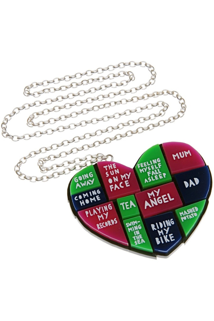 Everything I Love That Lives In My Heart Necklace: Rob Ryan, Ryan Tatty, Heart Necklaces, My Heart, Love Life, Ryan Necklace, Tatty Devine