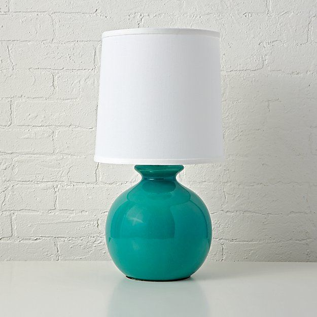 Gumball Teal Table Lamp   The Land of Nod