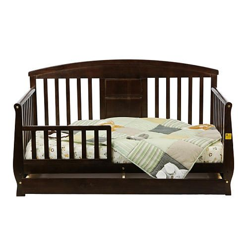 Dream On Me Toddler Day Bed With Storage Drawer Espresso
