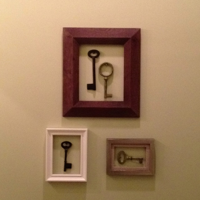 Wall Decor With Vintage Keys Home Decor