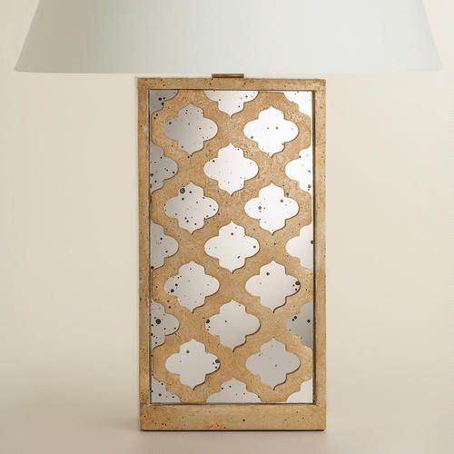 One of my favorite discoveries at WorldMarket.com: Moroccan Lattice Mirror Table Lamp Base