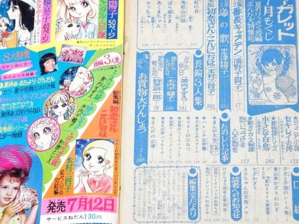 1969.2 別冊マーガレット 忠津陽子 鈴原研一郎 新タイガース物語_画像2