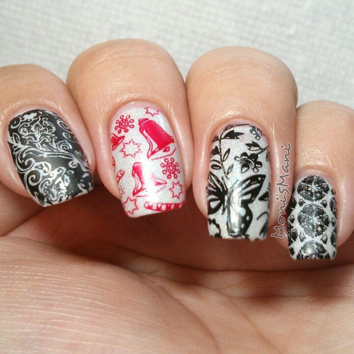 Super funky #nailart! moyou nails plate 222