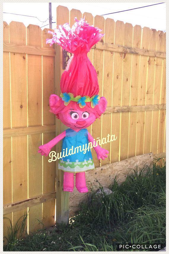 Piñata de trolls amapola 3D unos 26 de altura