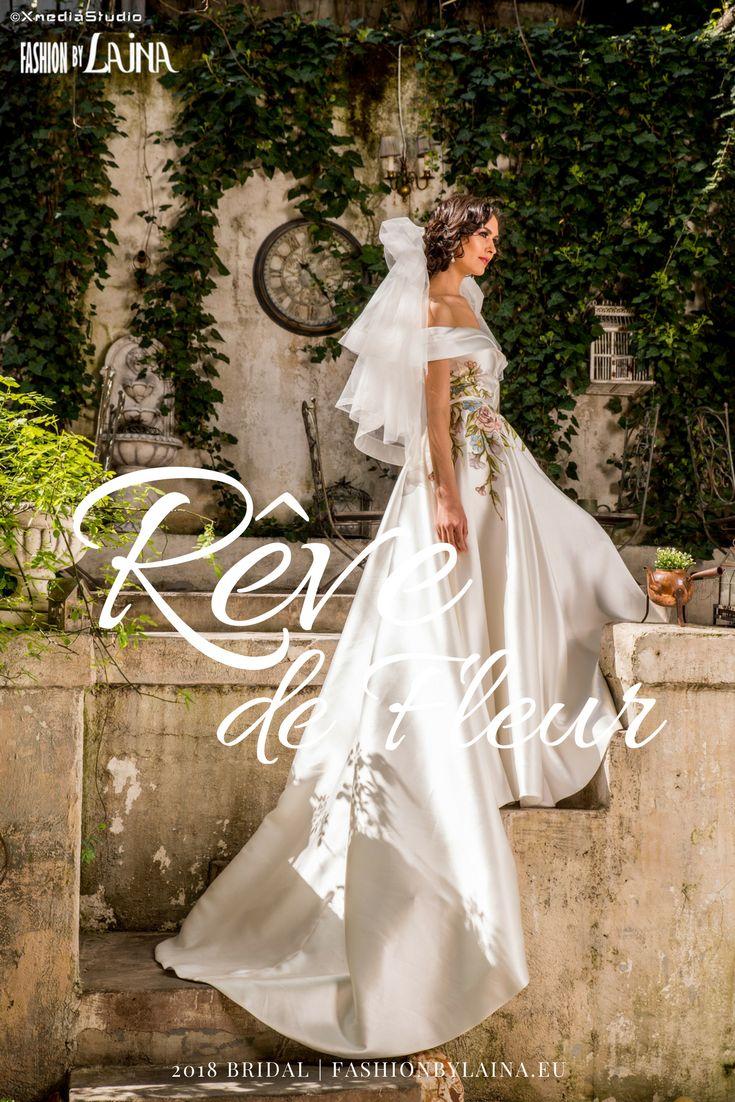 2018 Portrait Back Lace Wedding Dress by Fashion by Laina #fashionhouse #barcelonabridalweek
