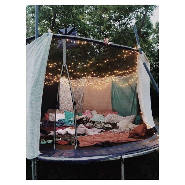 omment faire de son trampoline, la cabane parfaite pour une nuit à la belle ét…