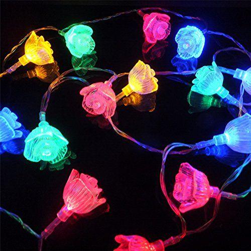 228 best outdoor light strings images on pinterest light chain sunniemart 40 led rose battery operated string lights outdoor lighting for patio garden lawn aloadofball Gallery