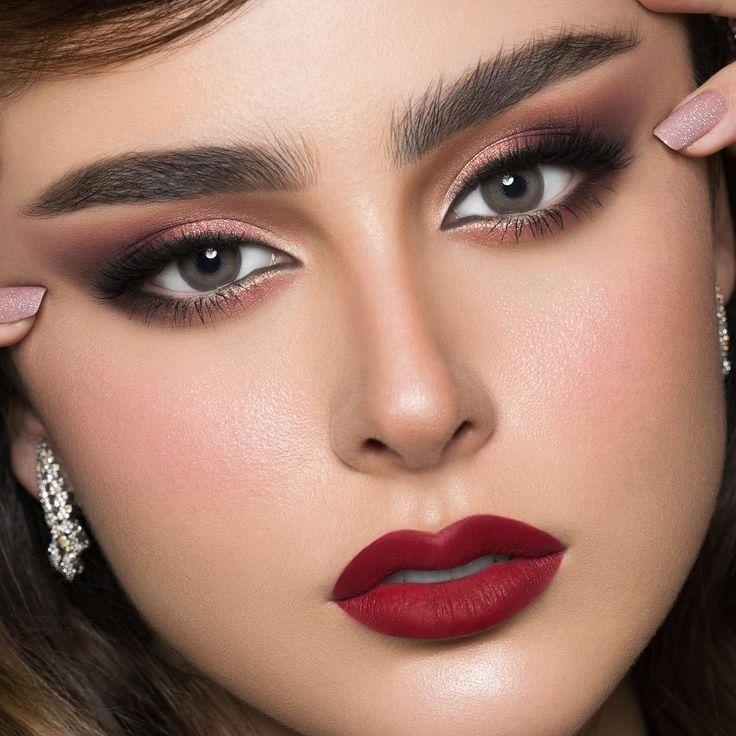 Nora Bo Awadh On Instagram The Red صباح الخير للسهرانين تصوير حبيبتي صفاء Safa Photographer الروج فلي Pop Art Makeup Pretty Nose Eye Makeup