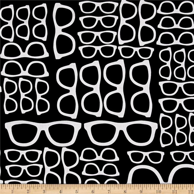 Geekery Spectacles Mavro from @fabricdotcom  Designed by Sue Marsh for RJR Fabrics, this cotton print collection features wonderfully geeky and nerdy themes like math, science, buddy holly glasses, and more! Perfect for quilting, apparel, and home decor accents. Colors include black and white.